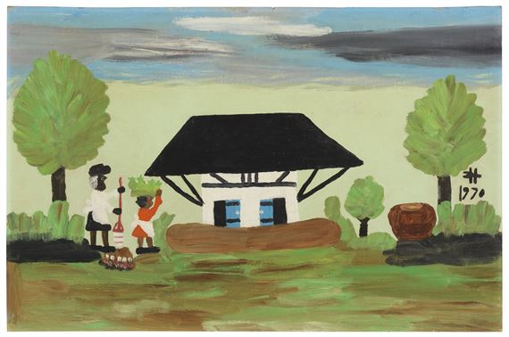 Hunter Clementine African House 1970 Mutualart