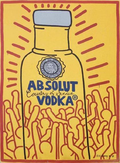 Haring Keith | Absolut Vodka (1986) | MutualArt