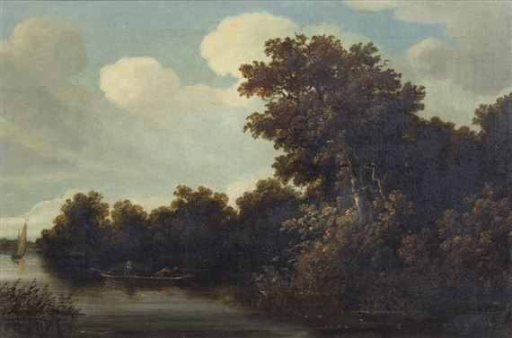 Dutch School, 18thCentury | Duck Shooting on a River | MutualArt
