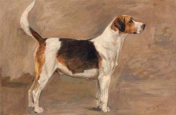 Emms John   A Brindle Greyhound in a Landscape (1890)   MutualArt