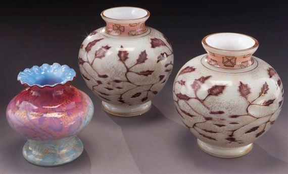Harrach Glass | (3) Graf Harrach air trapped glass vases