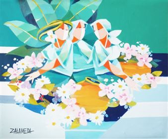Oscar Zalameda Art Auction Results