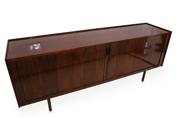 1960s Danish Credenza : S danish mid century teak sideboard credenza top designclassix