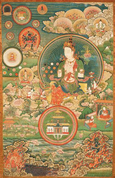 Artwork by Tibetan School, 18th Century, A THANGKA OF RATNASAMBHAVA