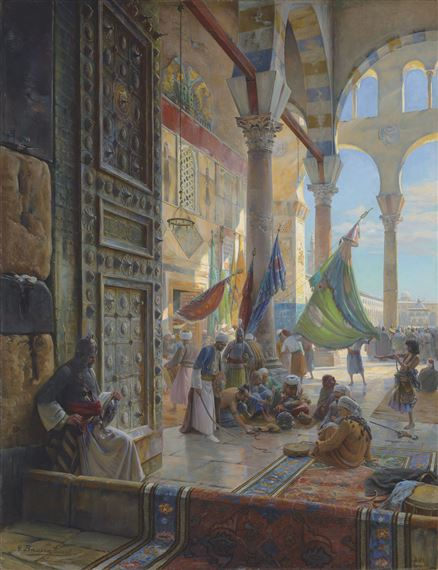 Bauernfeind Gustav | Forecourt of the Umayyad Mosque
