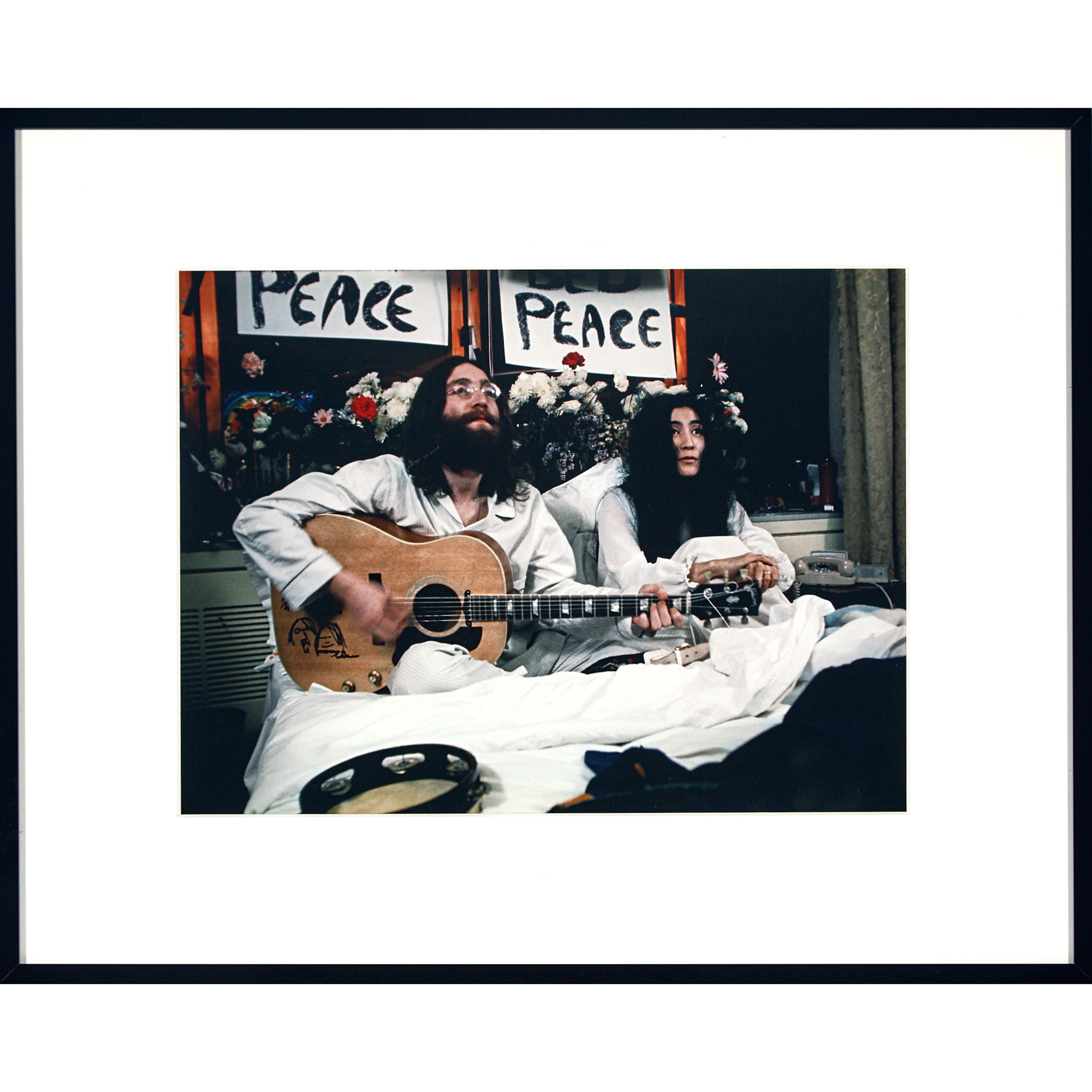 Deiter Gerry John Lennon Yoko Ono At Their Montreal Bed In For Peace 1969 Mutualart
