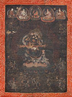 Tibetan School, 19th Century | A thangka of a Sangpo Bumtri