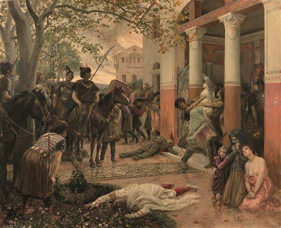 Rochegrosse George | Attila et les Huns ou L'assaut des Tartares ...