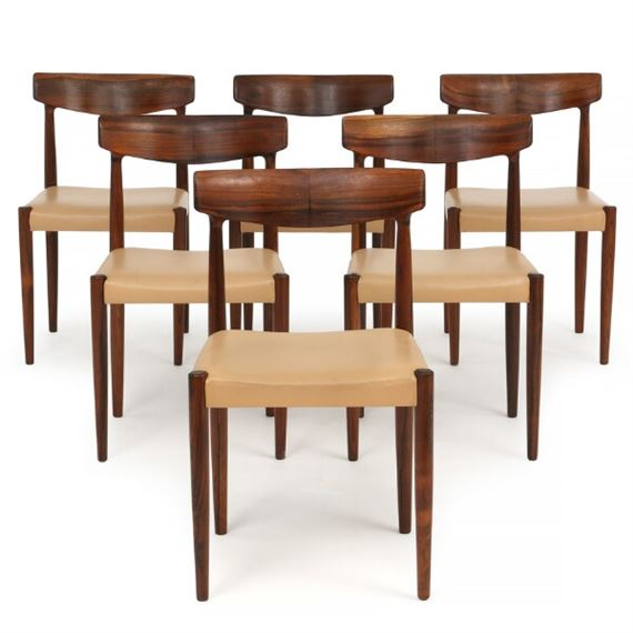 Faerch Knud Set Of Six Dining Chairs Of Brazilian Rosewood Mutualart
