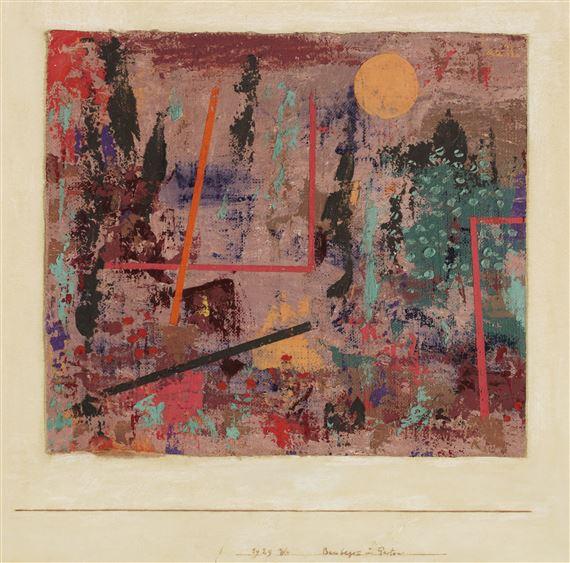 Klee Paul Baubegin Im Garten Mutualart
