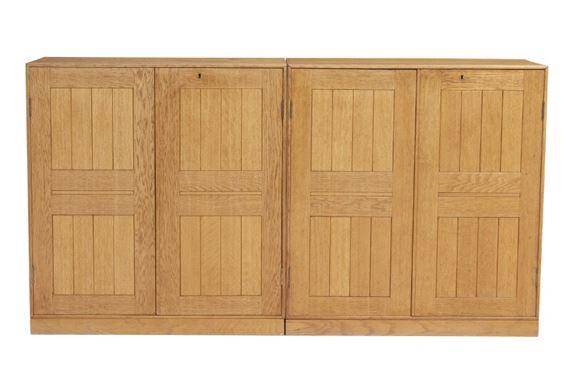 Mogens S Koch Two Oak Cabinets With