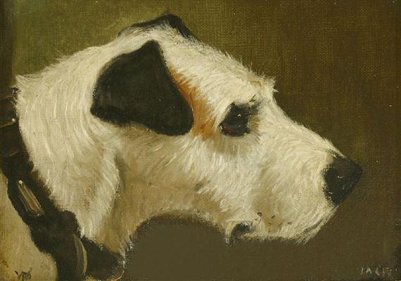 William M  Pratt | 2 Works: Jack & Daisy, Heads of Terriers