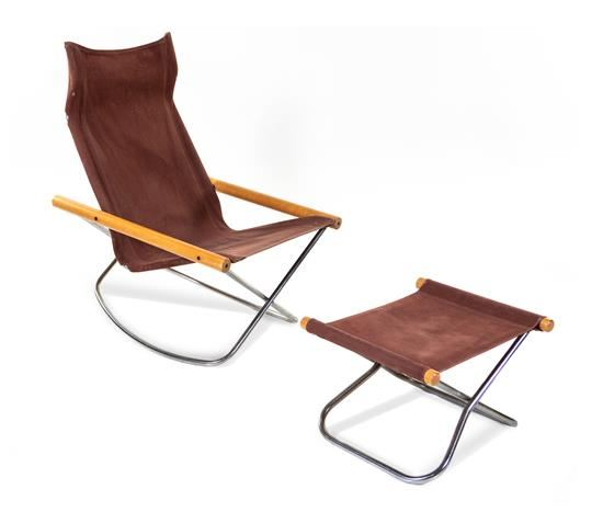 Incredible Nii Takeshi Ny Folding Rocking Chair And Ottoman Mutualart Ocoug Best Dining Table And Chair Ideas Images Ocougorg