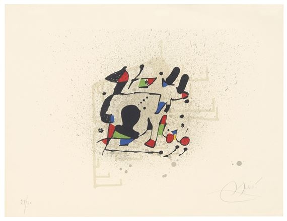 Miró Joan Invitation Card To The Preview For The