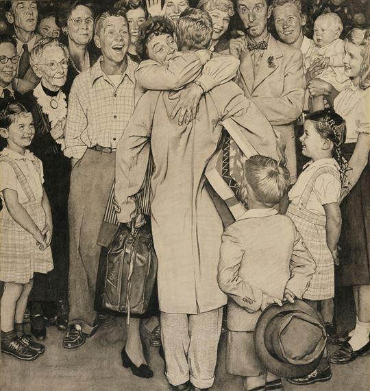 Christmas Homecoming Rockwell.Rockwell Norman Christmas Homecoming 1948 Mutualart