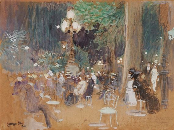 Stein Georges Terrasse De Café Mutualart