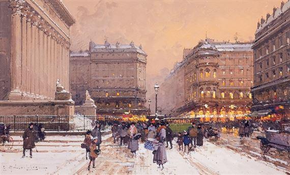 Galien Laloue Eugene Place De La Bourse Paris Mutualart