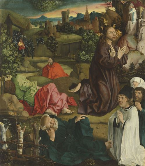 Ulm School 16th Century Jesus In The Garden Of Gethsemane With