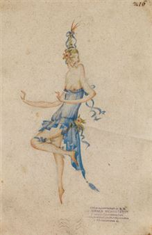 Snischek Max Fashion Design Sketch 1922 Mutualart