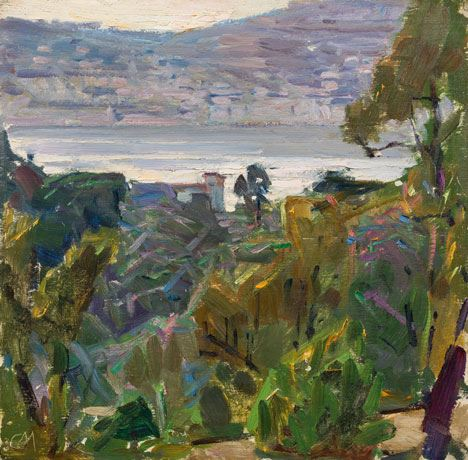 Artwork by Carl Moll, In der Bucht von Villefranche, Riviera, Made of Oil on panel