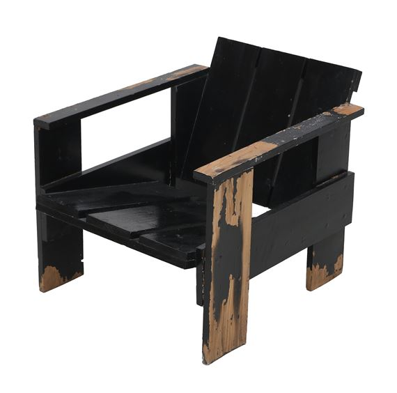 Super Rietveld Gerrit A Black Lacquered Pine Crate Chair 1935 Download Free Architecture Designs Scobabritishbridgeorg
