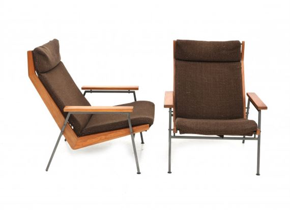 Outstanding Parry Rob A Pair Of Teak And Metal Lounge Chairs 1960 Pdpeps Interior Chair Design Pdpepsorg