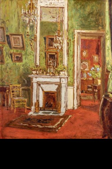 19th Century Drawing Room: APARTMENT INTERIOR, LARGE RED