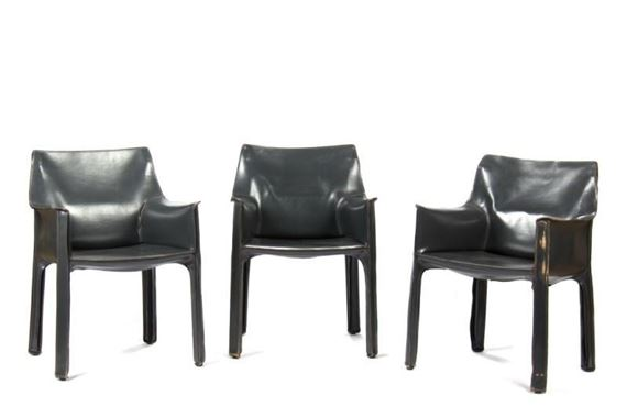 Stupendous Bellini Mario Three Cassina Cab Leather Armchairs Mutualart Ocoug Best Dining Table And Chair Ideas Images Ocougorg