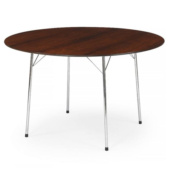 Jacobsen Arne A Circular Dining Table And A Set Of Four Ant Chairs Mutualart