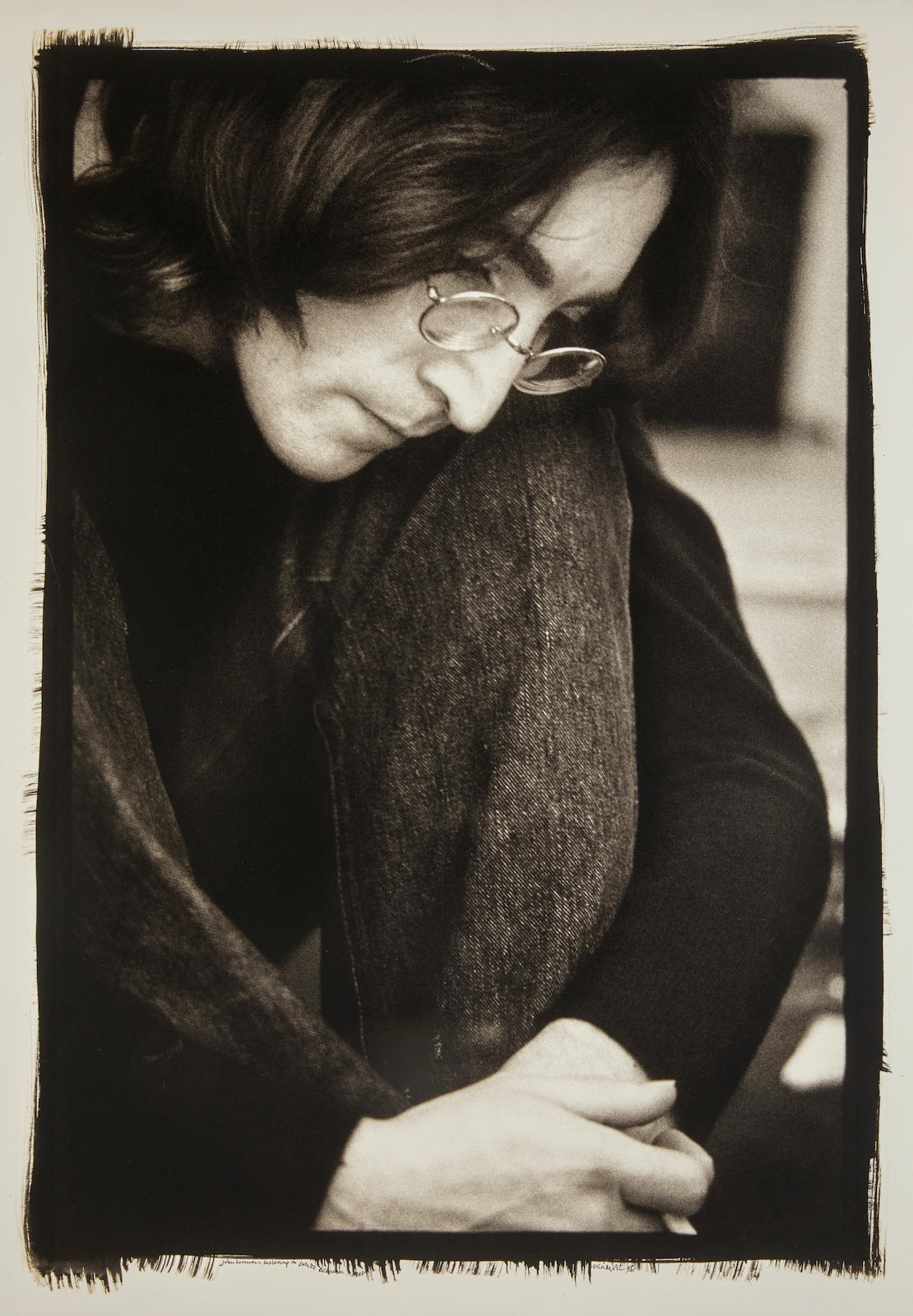 Russell Ethan John Lennon Listening To The Playback Of The White Album 1968 Mutualart