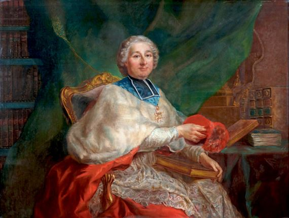 French School, 19thCentury   Portrait of Cardinal Paul d'Albert de Luynes  (1703-1788)   MutualArt