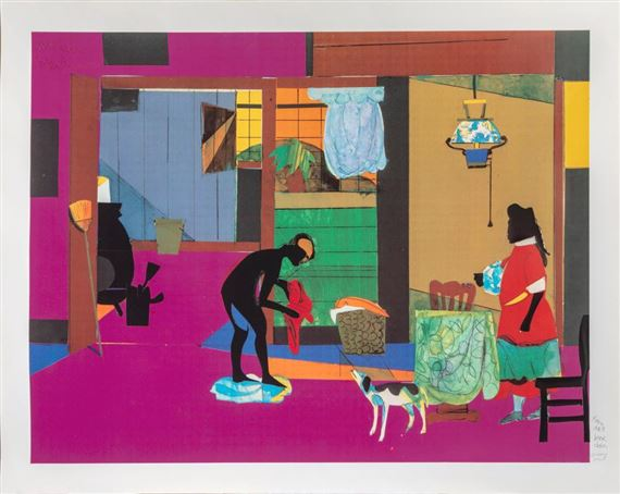 BEARDEN ROMARE MORNING OF THE ROOSTER 1980