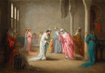Browne Henriette The Arrival In The Harem At Constantinople