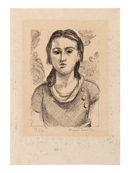 Artwork by Henri Matisse, Tête de jeune fille, Made of lithograph