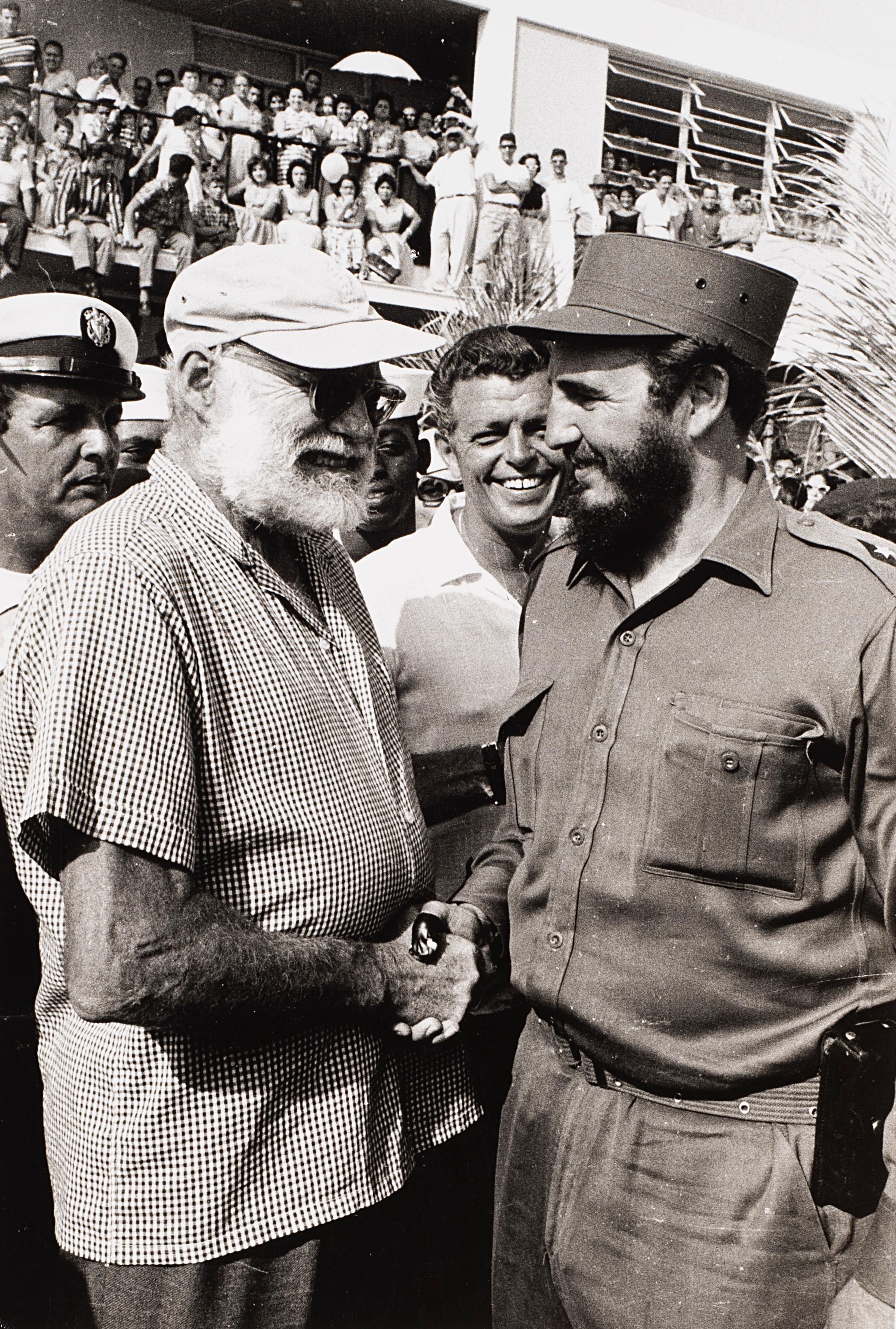Korda Alberto | Che Guevara & Fidel Castro, Ernest Hemingway Marlin Fishing Contest, Cuba 1960 | MutualArt