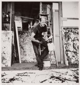 JACKSON POLLOCK,1950 by Hans Namuth  Kunst-Postkarte