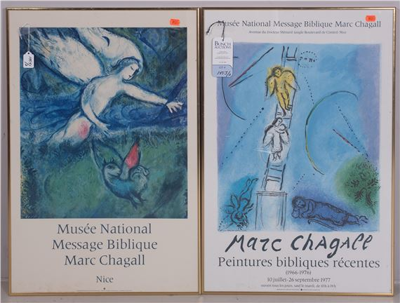 Chagall Marc 2 Exposition Posters Musee National Message Biblique Peintures Bibliques Recentes 1966 1976 Mutualart
