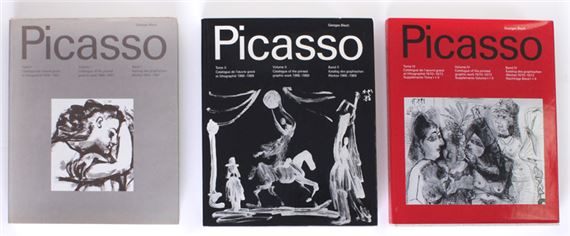 Artwork by Pablo Picasso, THREE WORKS: GEORGE BLOCH VOLUMES I & II & IV, Made of hardboard book