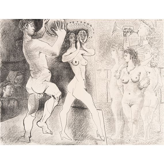 Artwork by Pablo Picasso, LA RÉPÉTITION, Made of Lithograph on Arches