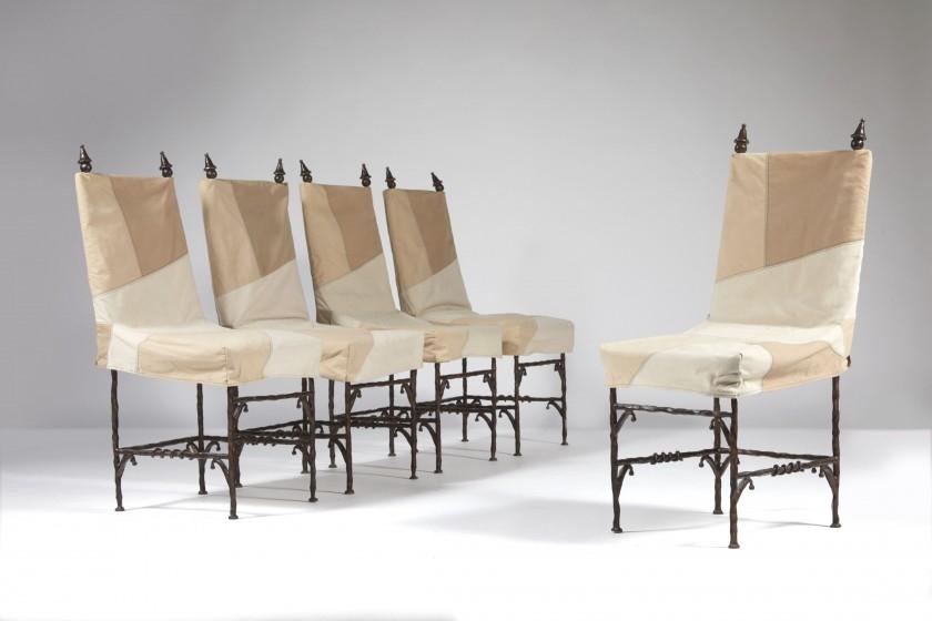 élisabeth Garouste Mattia Bonetti Suite De Cinq Chaises Athena Modèle Créé En 1989 Mutualart