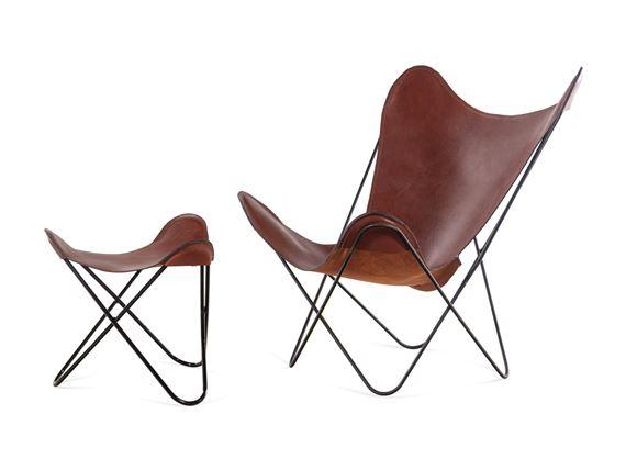 Jorge Ferrari Hardoy Butterfly Chair And Ottoman Mutualart