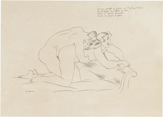 "Artwork by André Lhote, Illustration pour ""Musée secret"" par Jean Cocteau, Made of Pen and ink on paper"