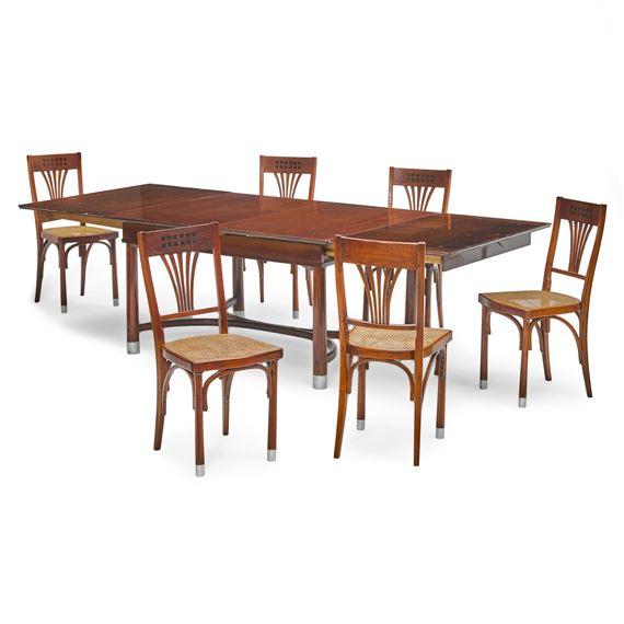 Hoffmann Josef Dining Table And Six Chairs Circa 1905 Mutualart